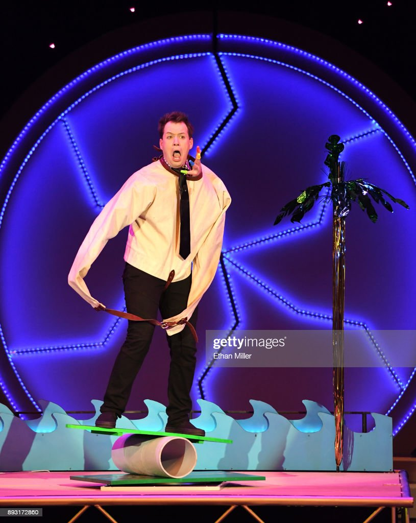 Magician Farrell Dillon performs during opening night of 'Masters of Illusion' at Bally's Las Vegas on December 13, 2017 in Las Vegas, Nevada.