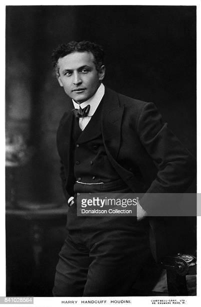 Magician Harry Houdini aka Harry Handcuff Houdini poses for a portrait in circa 1913