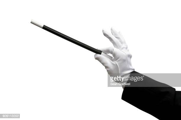 Magician holding wand