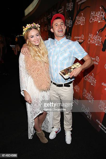 Magician Justin Willman and Jillian Sipkins attend Hilarity for Charity's 5th Annual Los Angeles Variety Show Seth Rogen's Halloween at Hollywood...