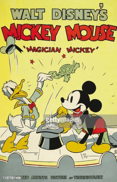 Magician Mickey, poster, from left: Donald Duck, Mickey Mouse, 1937.