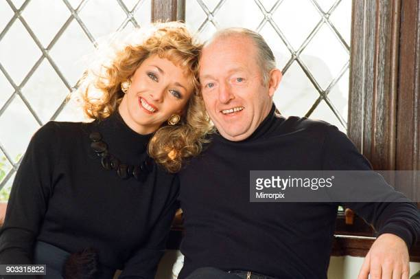 Magician Paul Daniels and his wife Debbie McGee pictured at home 13th December 1991