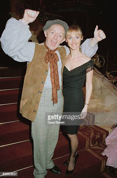 TV magician Paul Daniels with his onscreen assistant and wife Debbie McGee 1990