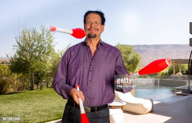 Magician Penn Jillette is photographed for Closer Weekly Magazine on June 15 2016 at home in Nevada PUBLISHED IMAGE