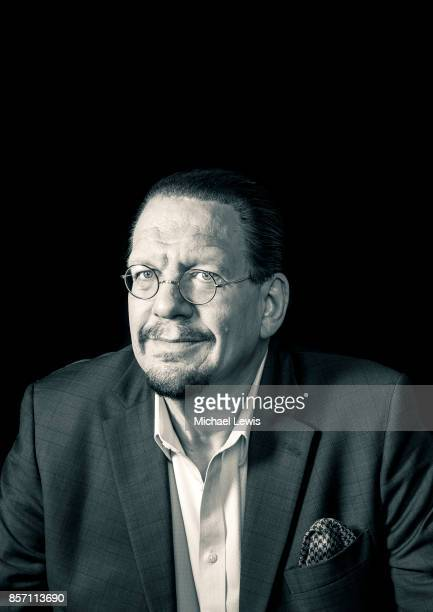 Magician Penn Jillette photographed for Harvard Business School Magazine on July 19 in Las Vegas Nevada