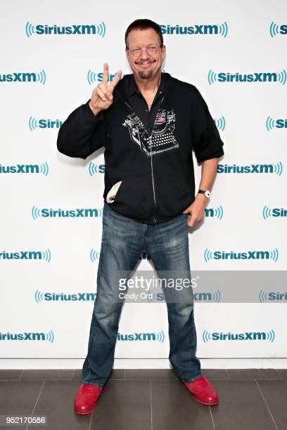 Magician Penn Jillette visits the SiriusXM Studios on April 27 2018 in New York City