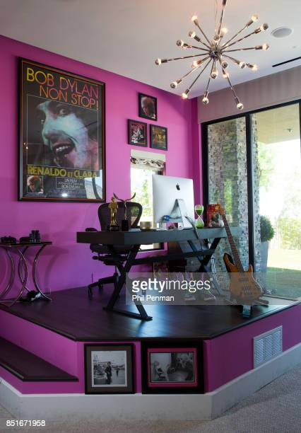 Magician Penn Jillette's home is photographed for Closer Weekly Magazine on June 15 2016 at home in Nevada