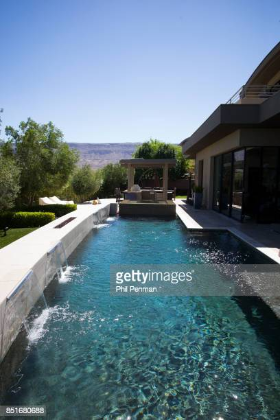 Magician Penn Jillette's home is photographed for Closer Weekly Magazine on June 15 2016 at home in Nevada Pool PUBLISHED IMAGE
