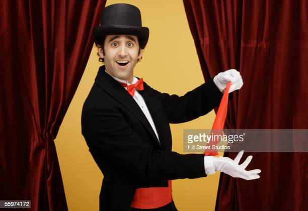 Magician performing magic trick