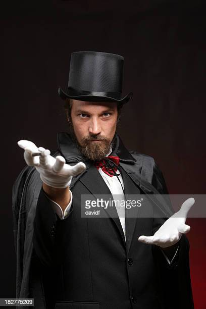 Magician performing tricks