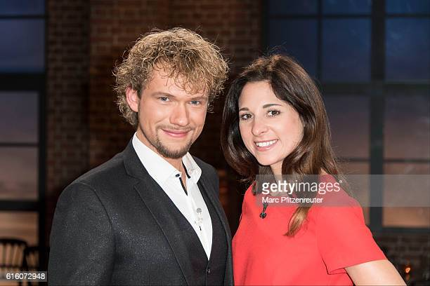 Magician Thommy Ten and Amelie van Tass attend the 'Koelner Treff' TV Show at the WDR Studio on October 21 2016 in Cologne Germany