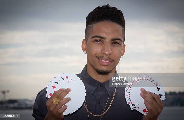 Magician Troy Von Scheibner aka 'Troy' poses during the photocall of showcases 'Troy' at Mipcom on October 7 2013 in Cannes France
