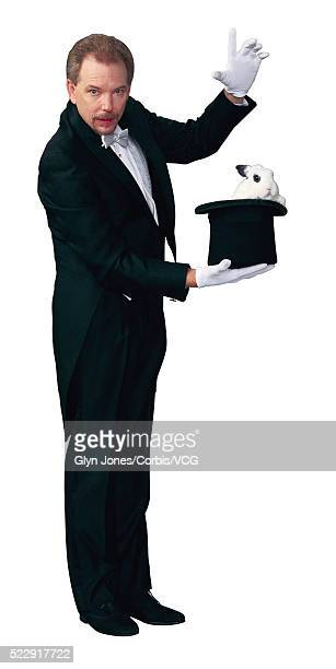 Magician with Rabbit in Top Hat