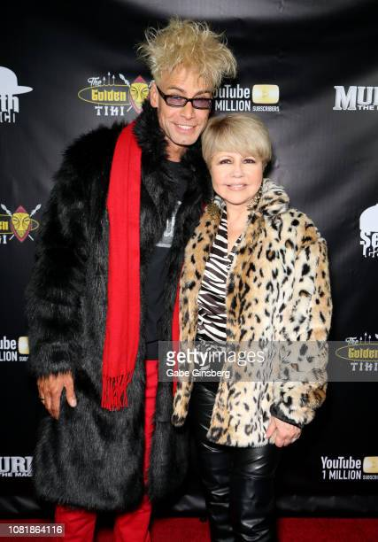 Magician/comedian Murray SawChuck and actress/singer Pia Zadora attend SawChuck's celebration of 1 Million YouTube subscribers at The Golden Tiki on...