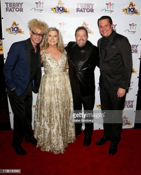Magician/comedian Murray SawChuck Angie Fiore Fator and her husband comic ventriloquist and impressionist Terry Fator and magician Douglas Lefty...