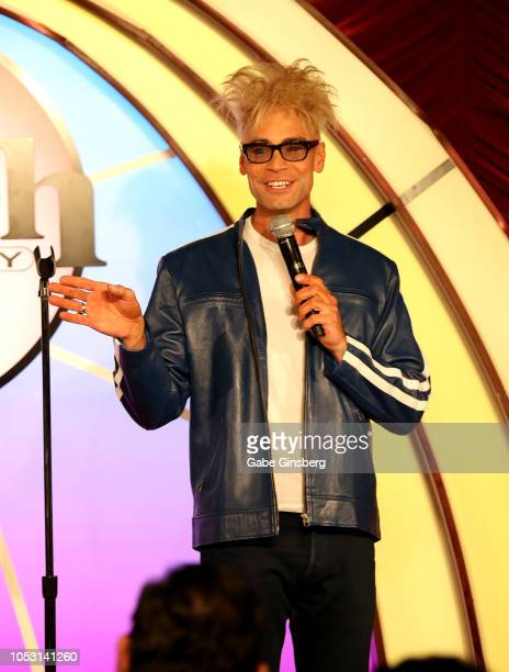 Magician/comedian Murray SawChuck performs during his opening of Murray the Magician at the Laugh Factory inside the Tropicana Las Vegas on October...