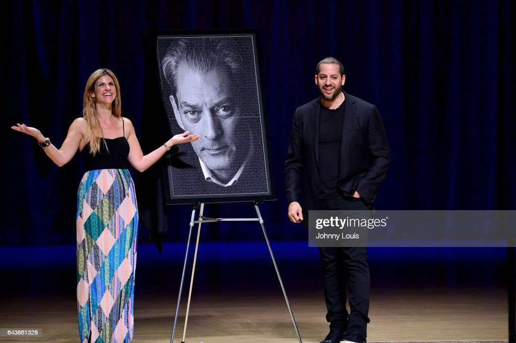 Magicians David Blaine (R) performs during A Evening with Paul Auster & friends! MUSIC, MAGIC &