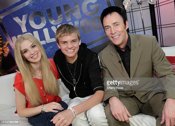 Magicians Krystyn Lambert Derek McKee and Lance Burton visit YoungHollywoodcom at the Young Hollywood Studio on May 26 2011 in Los Angeles California