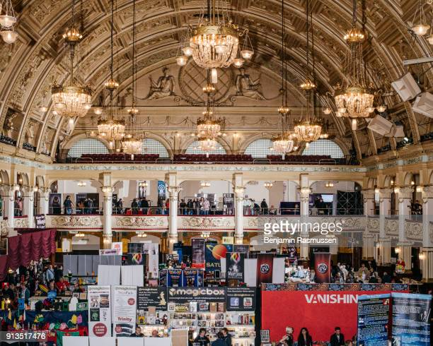 Magicians show off their wares and illusions at the Blackpool Magic Convention in Winter Gardens in Blackpool on February 19 2016 The most talented...
