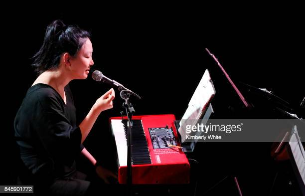 Magik*Magik performs at a town hall event held at The Chapel on September 11 2017 in San Francisco California hosted by the San Francisco Chapter...