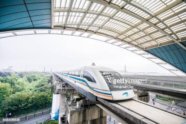 上海トランスラピッド - 高速列車 ストックフォトと画像