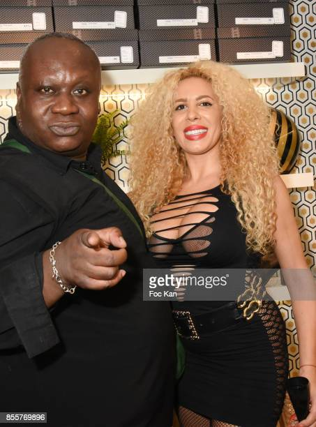 Magloire and Afida Turner attend the Henry Achkoyan Shop Opening on September 29, 2017 in Paris, France.