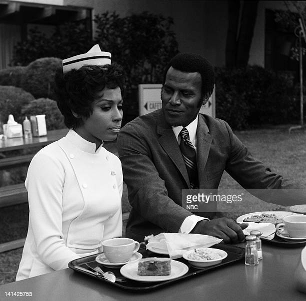 JULIA Magna Cum Lover Episode 7 Aired Pictured Diahann Carroll as Julia Baker Fred Williamson as Steve Bruce Photo by Gary Null/NBCU Photo Bank