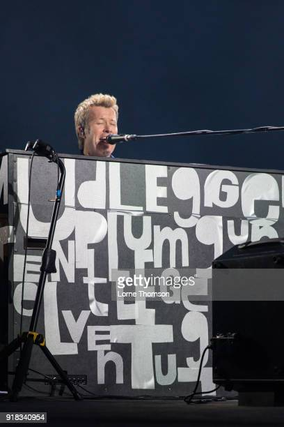 Magne Furuholmen of Aha performs at The O2 Arena on February 14 2018 in London England