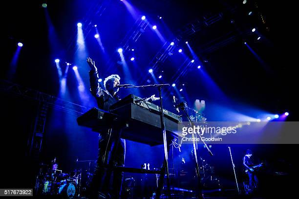 Magne Furuholmen of aha performs on stage at The O2 Arena on March 26 2016 in London England