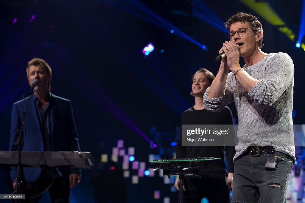 Magne Furuholmen of Norway, Kygo of Norway and Morten Harket of Norway perform on stage during the Nobel Peace Prize concert at Telenor Area on December 11, 2015 in Oslo, Norway. The Nobel Peace Concert is hosted by Jay Leno to honour this year's Nobel Peace Prize winners the National Dialogue Quarter members Houcine Abbassi, Secretary General of the Tunisian General Labour Union, Mohamed Fadhel Mahmoud, President of the National Bar Association of Tunisian and Abdessattar Ben Moussa, President of the Tunisian Human Rights, and Wided Bouchamaoui, President of the Tunisian Human Rights League on December 11, 2015 in Oslo, Norway.