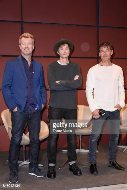 Magne Furuholmen Pal Gamst WaaktaarSavoy and Morten Harket during the 'Aha' Press Conference of MTV Unplugged Summer Solstice at Nordische...