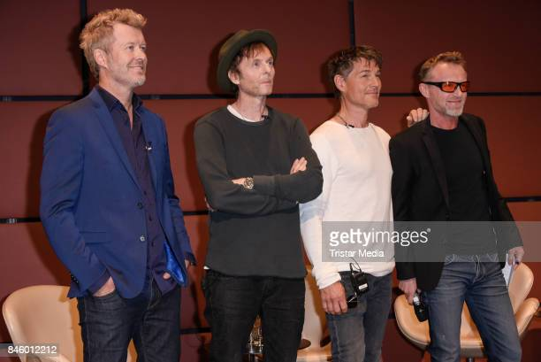 Magne Furuholmen Pal Gamst WaaktaarSavoy Morten Harket and author Jo Nesbo during the 'Aha' Press Conference of MTV Unplugged Summer Solstice at...
