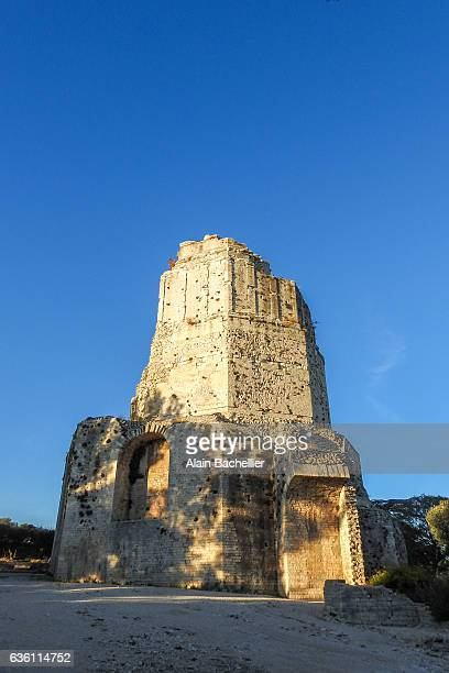 magne tower - nimes stock pictures, royalty-free photos & images