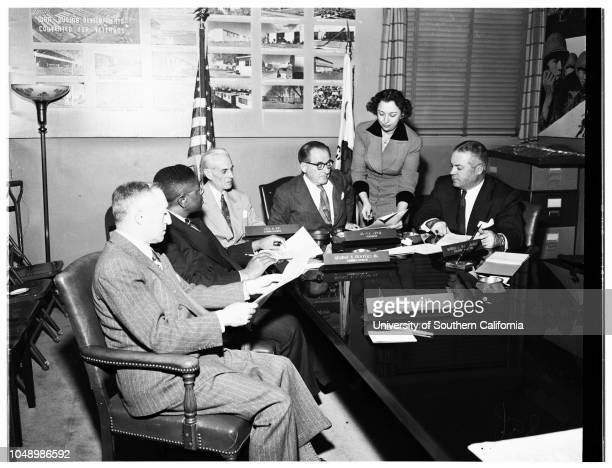 Magner White Series pictures Los Angeles City Housing Commission 06 January 1952 Maurice SaetaGeorge A Beavers JuniorLeo A VieChairman Nicola...