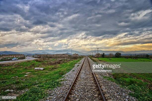 magnesia ancient city walls,road & railroad,aydin - emreturanphoto stock pictures, royalty-free photos & images
