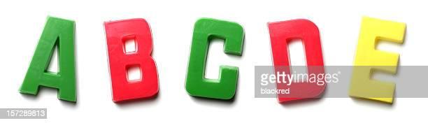 Magnet Letters - A B C D E