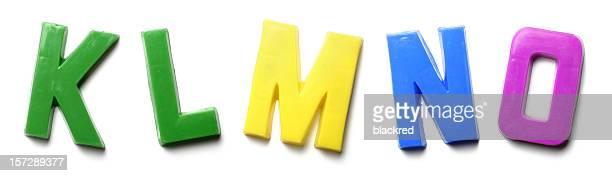 Magnet Letters - K L M N O