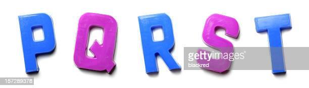 Magnet Letters - P Q R S T