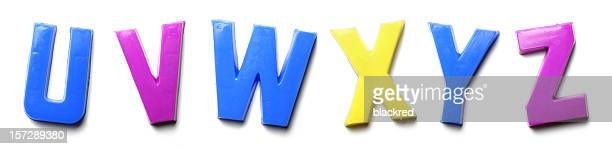 Magnet Letters - U V W X Y Z