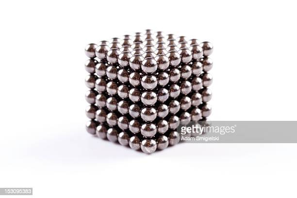 magnetic balls - cube - ball stock pictures, royalty-free photos & images