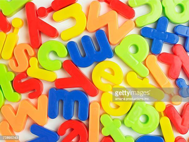 Magnetic letters (close-up)