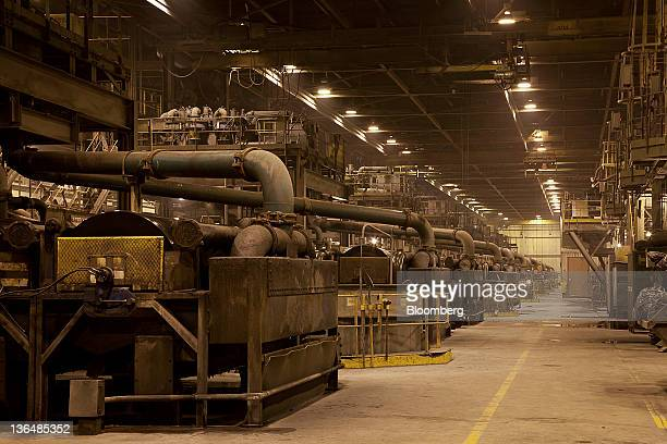 Magnetic machines separate iron from rock at the Hibbing Taconite Co pellet manufacturing plant operated by Cliff's Natural Resources Inc in Hibbing...