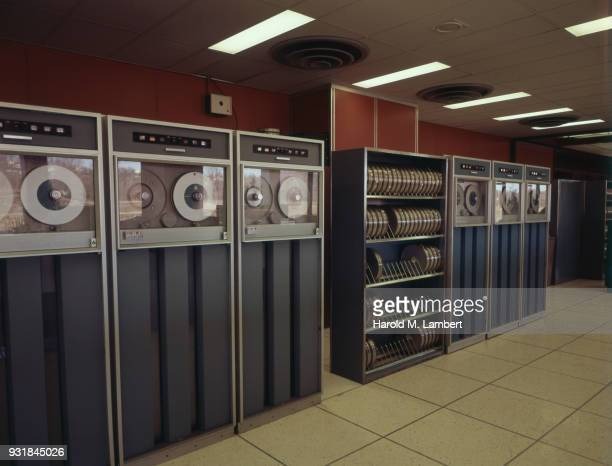 Magnetic tape recording machines in warehouse
