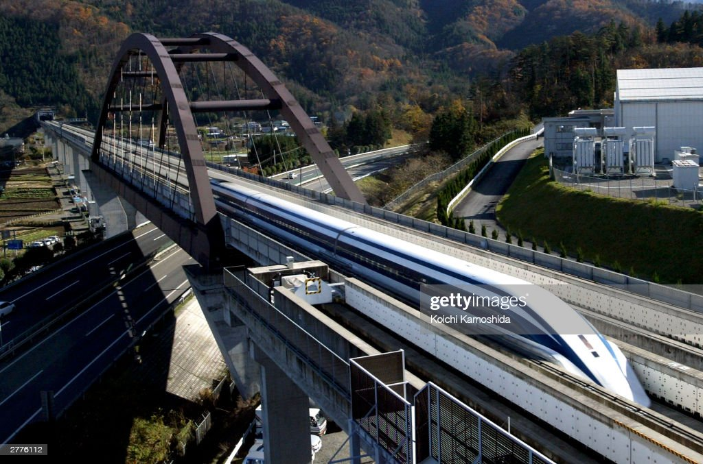 Japanese Train Breaks Manned Speed Record : News Photo