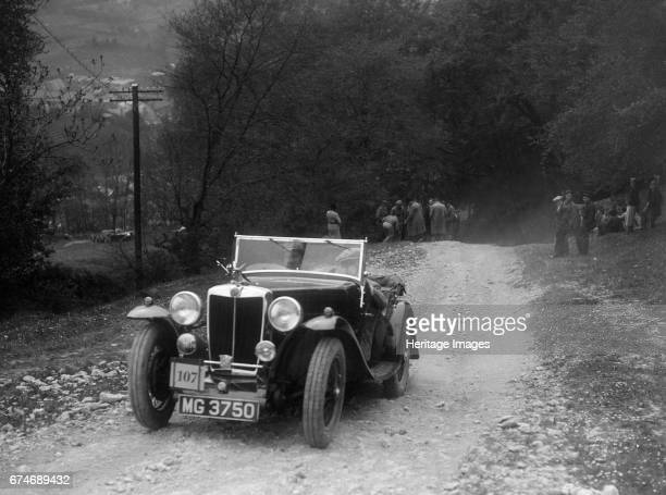 MG Magnette competing in a motoring trial Nailsworth Ladder Gloucestershire 1930s Artist Bill Brunell