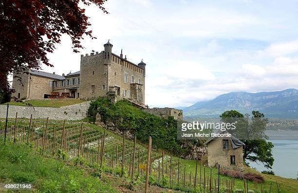 Magnific castle near of Lake Bourget , french alps. Castle of Bourdeau