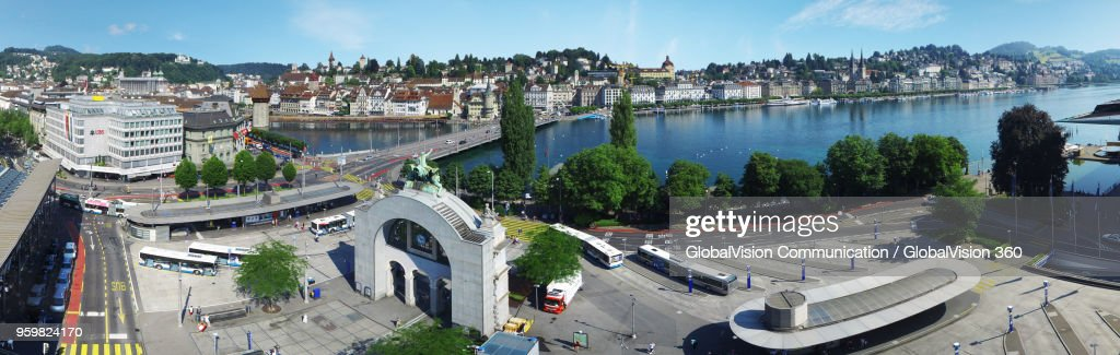 Magnificent City View of Lucerne, Central Switzerland : Stock-Foto