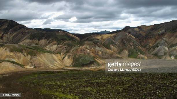 magnificent colorful volcanic mountains in the valley park landmannalaugar (iceland) at summer time - lava plain stock pictures, royalty-free photos & images