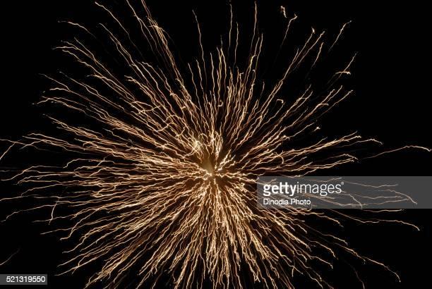 Magnificent Firework in Sky at Night for Gudi Padva Festival Thane Mumbai Maharashtra