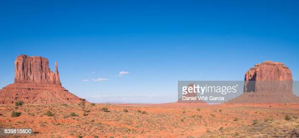 Magnificent landscape view of Monument Valley at day
